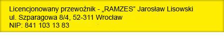 Ramzes Wrocław - licencjonowany przewoźnik - www.lotnisko-wroclaw-transfery.pl
